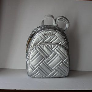 Michael Kors Abbey MD Backpack Silver